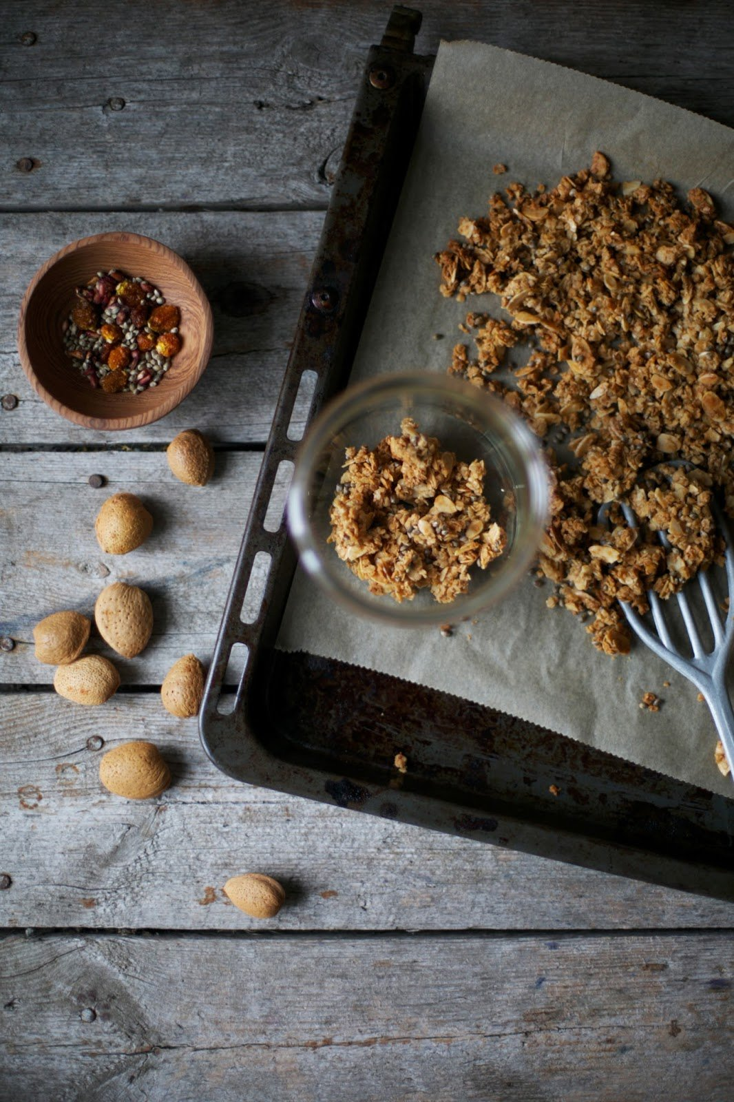 gluten free granola with almonds hempseeds and dried. Black Bedroom Furniture Sets. Home Design Ideas
