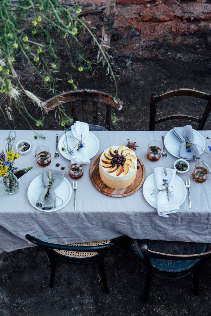 Image for Gluten-free Peach-Gooseberry-Thyme Cake & a Gathering for Villeroy&Boch