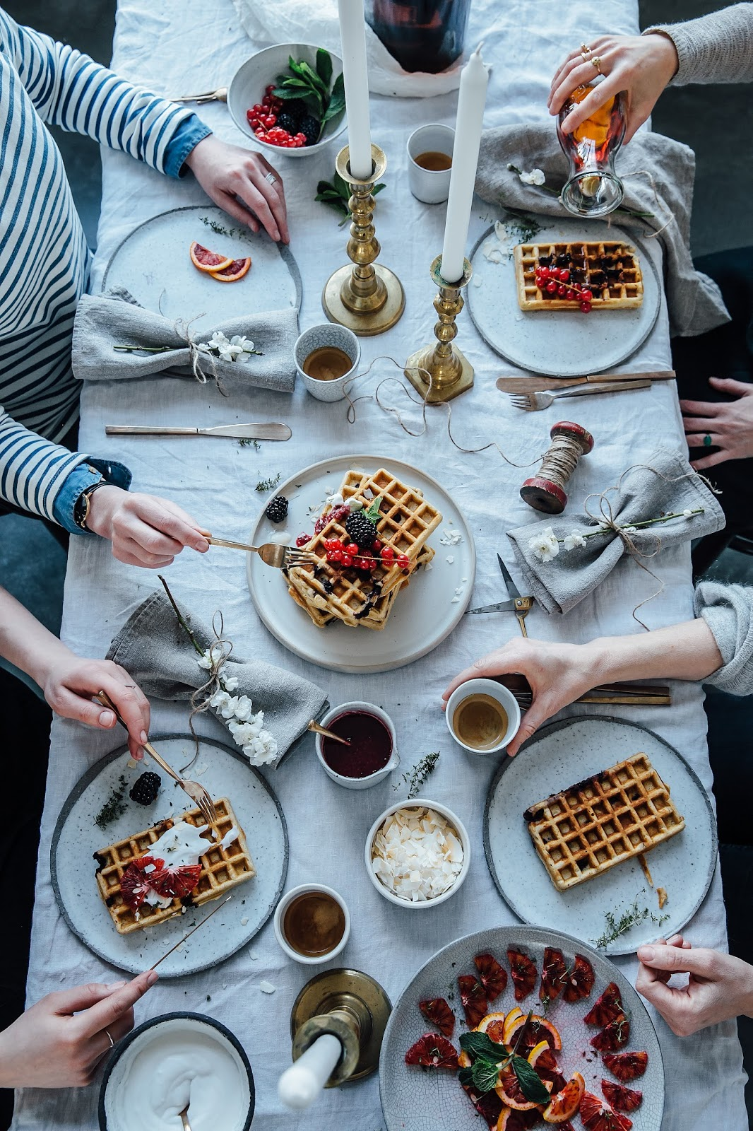Gluten-free Blueberry Waffles and a Gathering in our new Studio