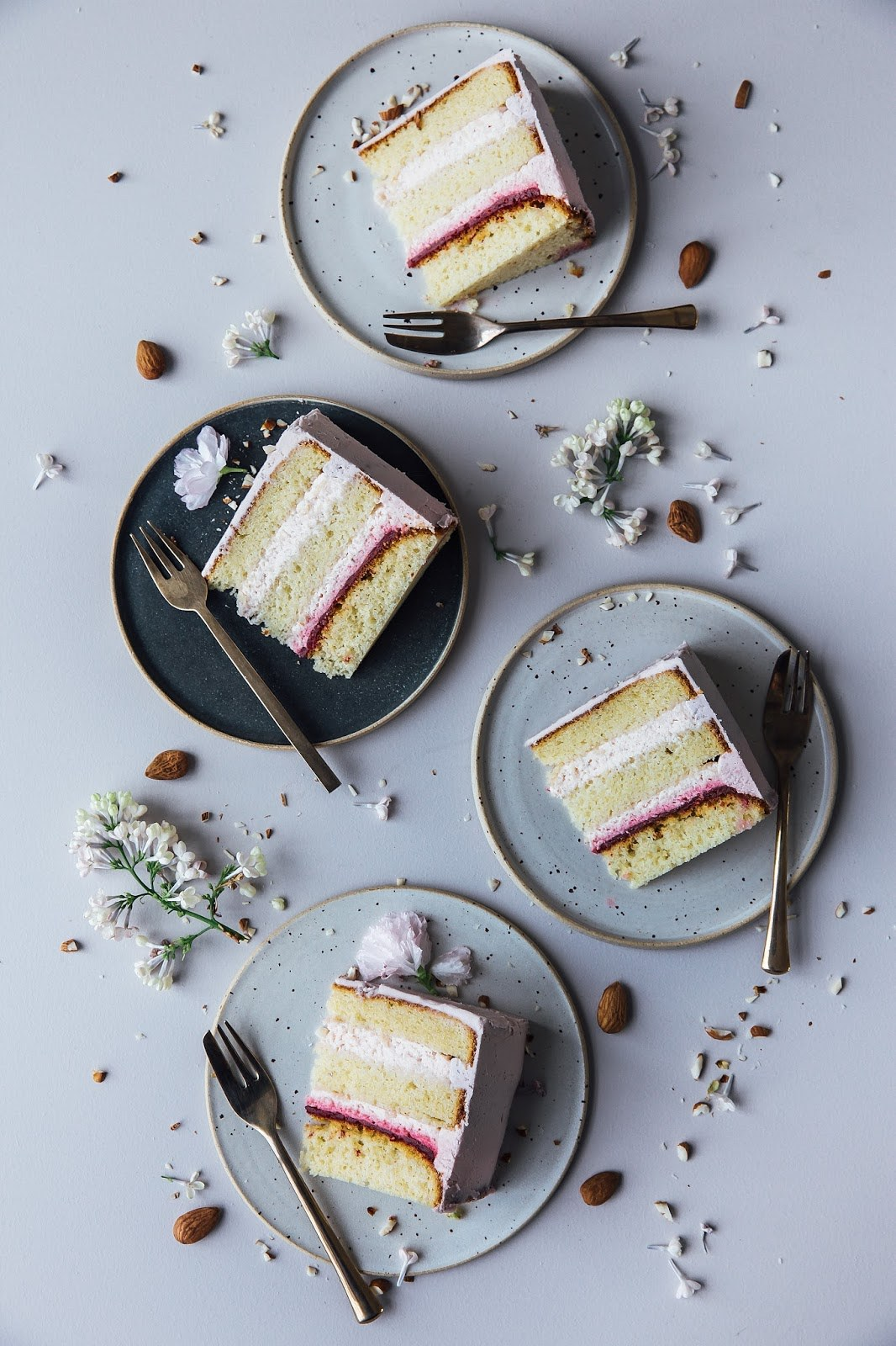 Gluten Free Rhubarb-Raspberry Cake & a Moodboard for Farrow & Ball