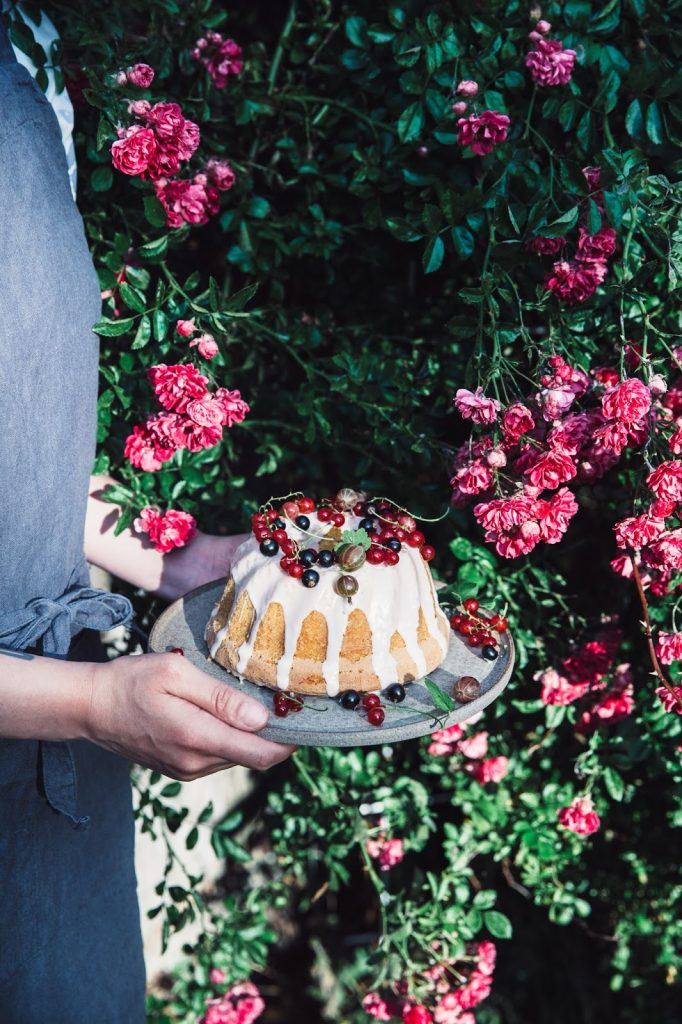 Image for Gluten-free Coconut Bundt Cake with Berries from the Garden