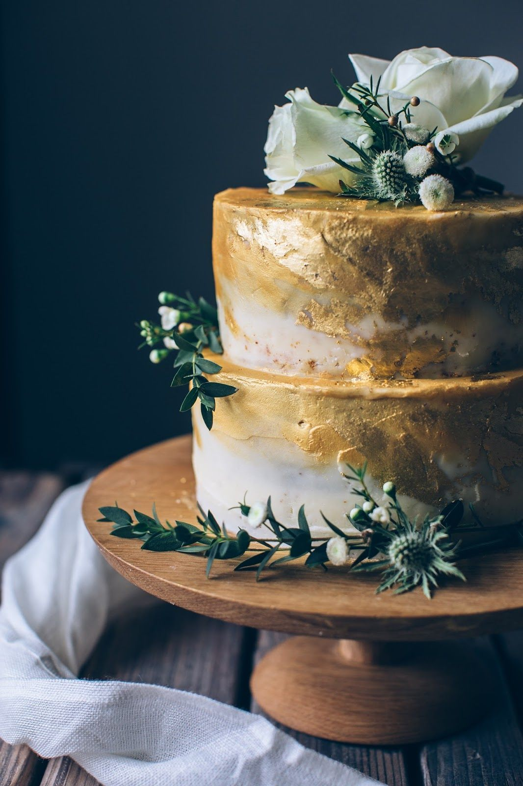 Golden Coconut Raspberry Rose Cake A Gluten Free Wedding Cake