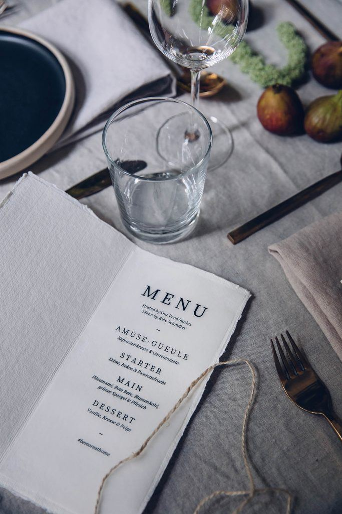 How to style a menu card