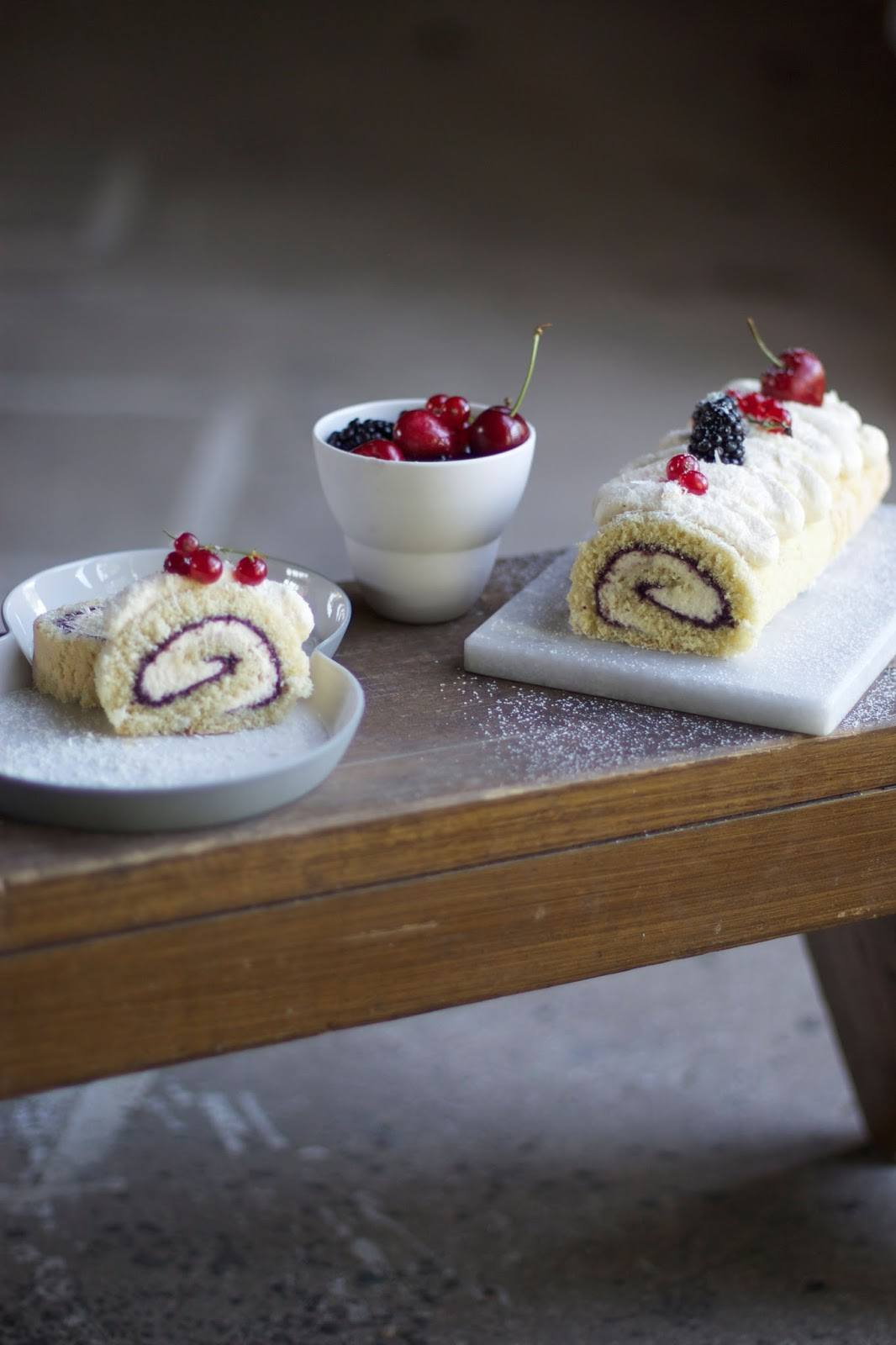 Gluten-free Swiss Roll with Berries & White Chocolate
