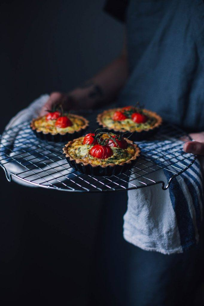 "Image for Gluten-free Goatcheese Quiche with Cherry Tomatoes – a Recipe from the new Book ""Picknick"""