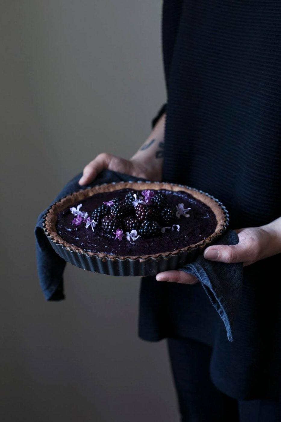 Image for Gluten-free Elderberry-Blackberry-Curd Tart