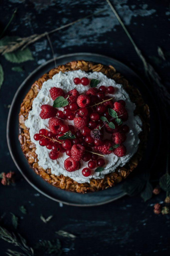 Image for Gluten-free Bee Sting Cake with Coconut Sugar and Raspberry Cream