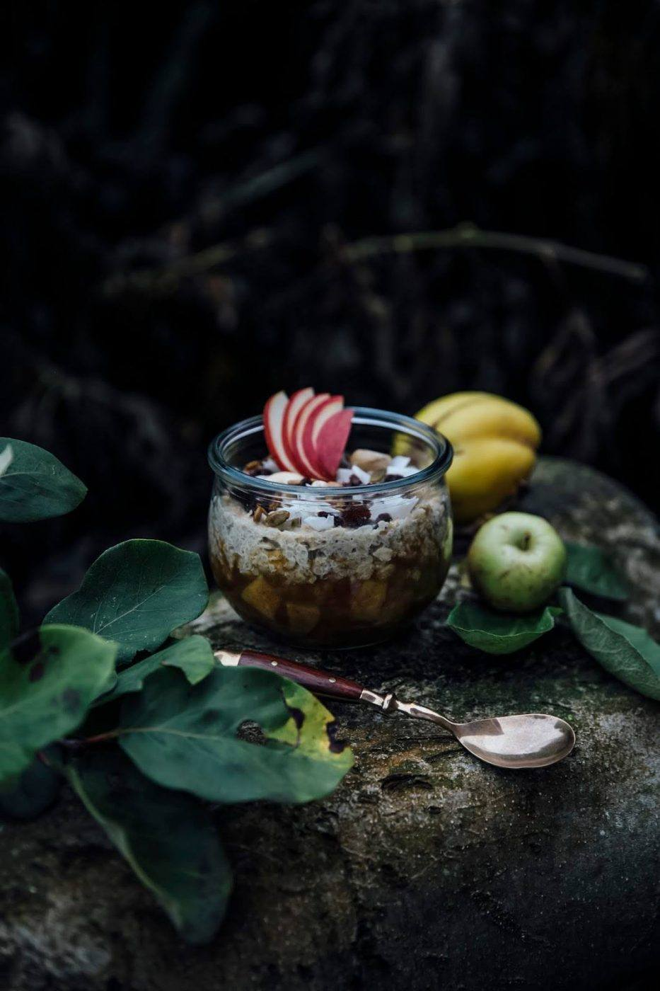 Image for Autumn Breakfast: Hemp Milk-Quinoa-Oat Porridge with Quinces and Apple Compote