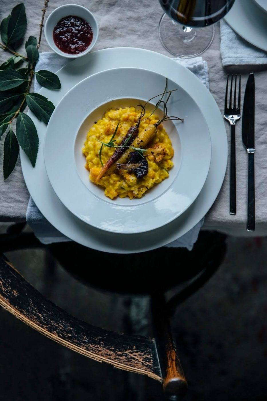 Image for Pumpkin-Risotto with caramelized Carrots and Cauliflowers: our third Gathering for Villeroy&Boch