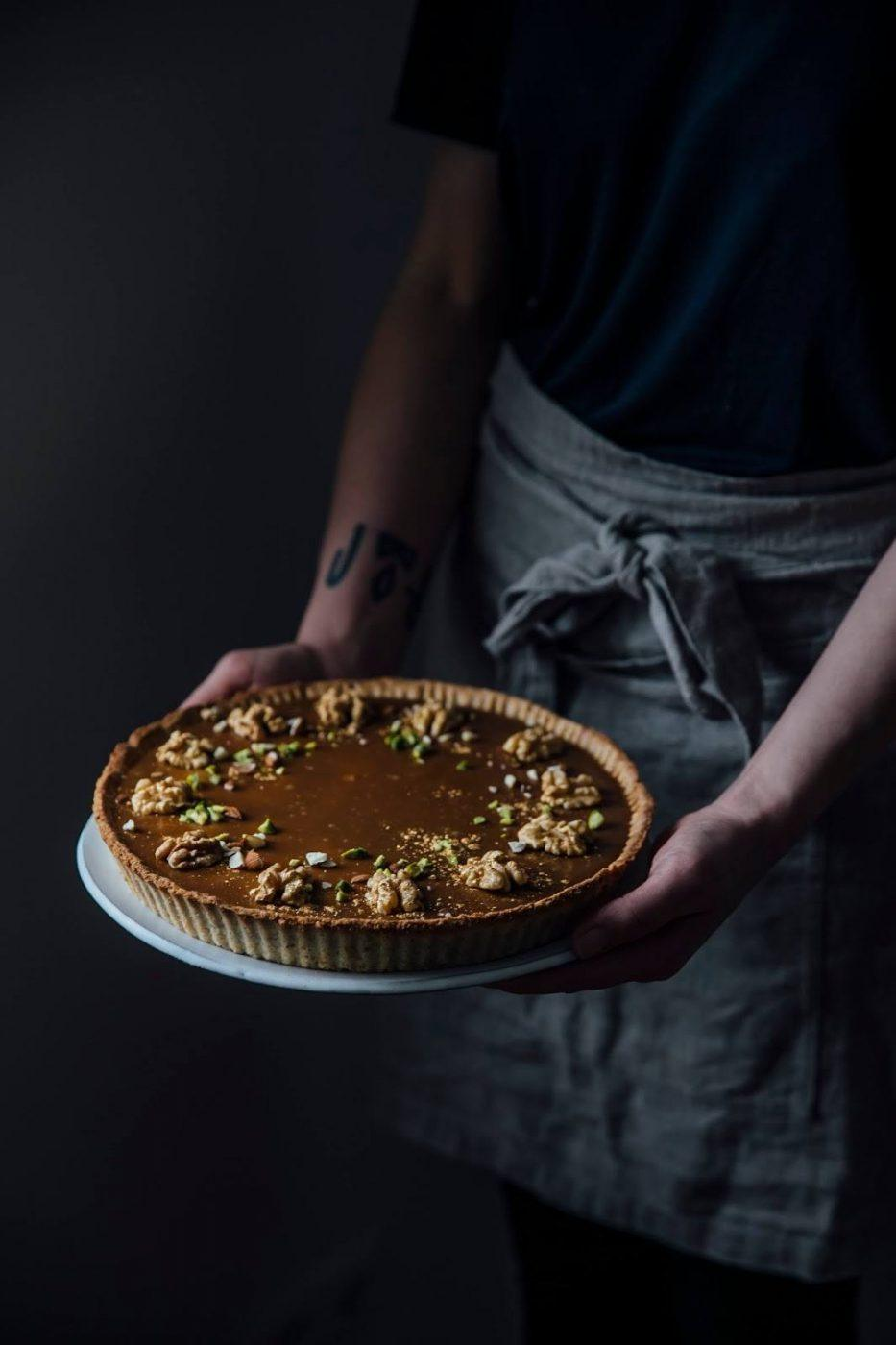 Image for Gluten-free Quince-Caramel Christmas Tart