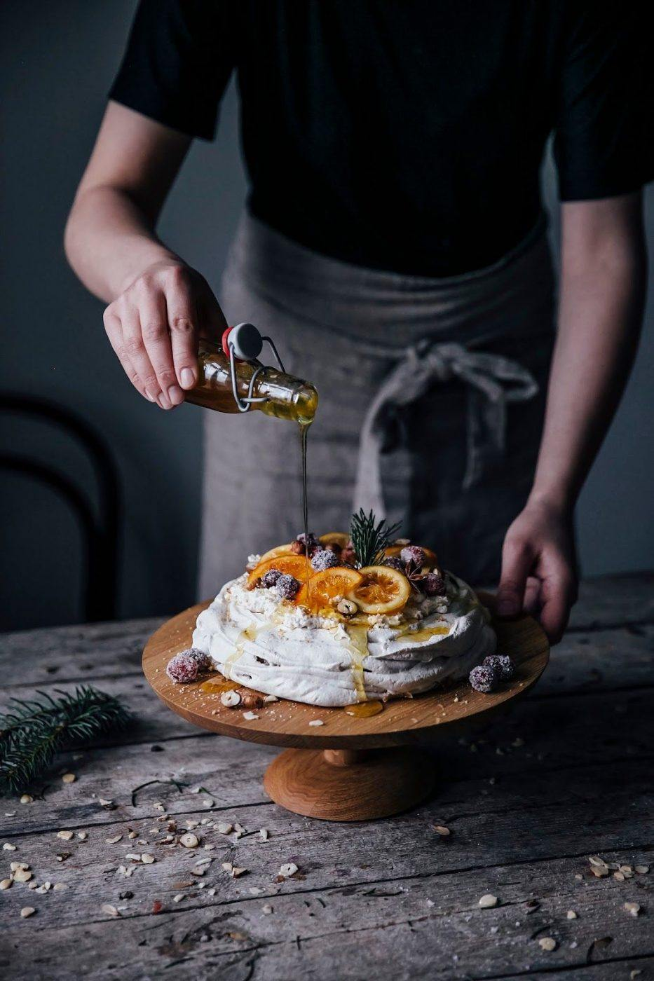 Image for Christmas Pavlova with sugared Cranberries and Orange & Citron Slices
