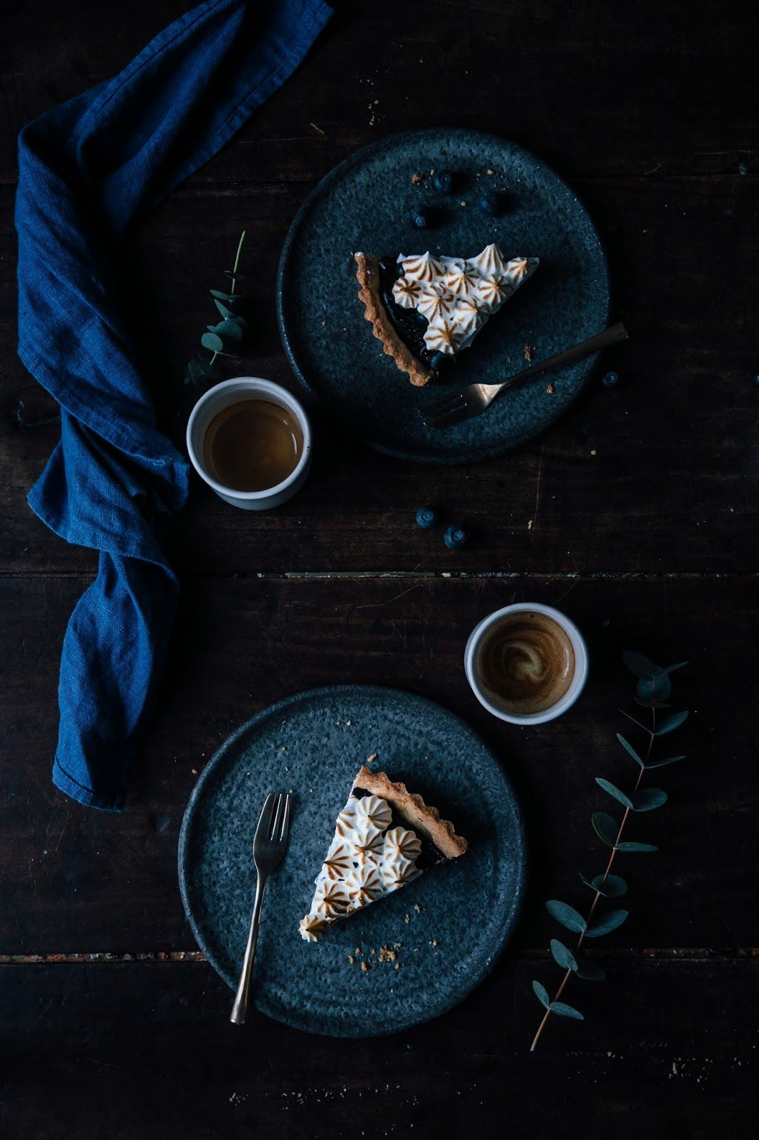 Gluten-free Blueberry-Meringue Tart