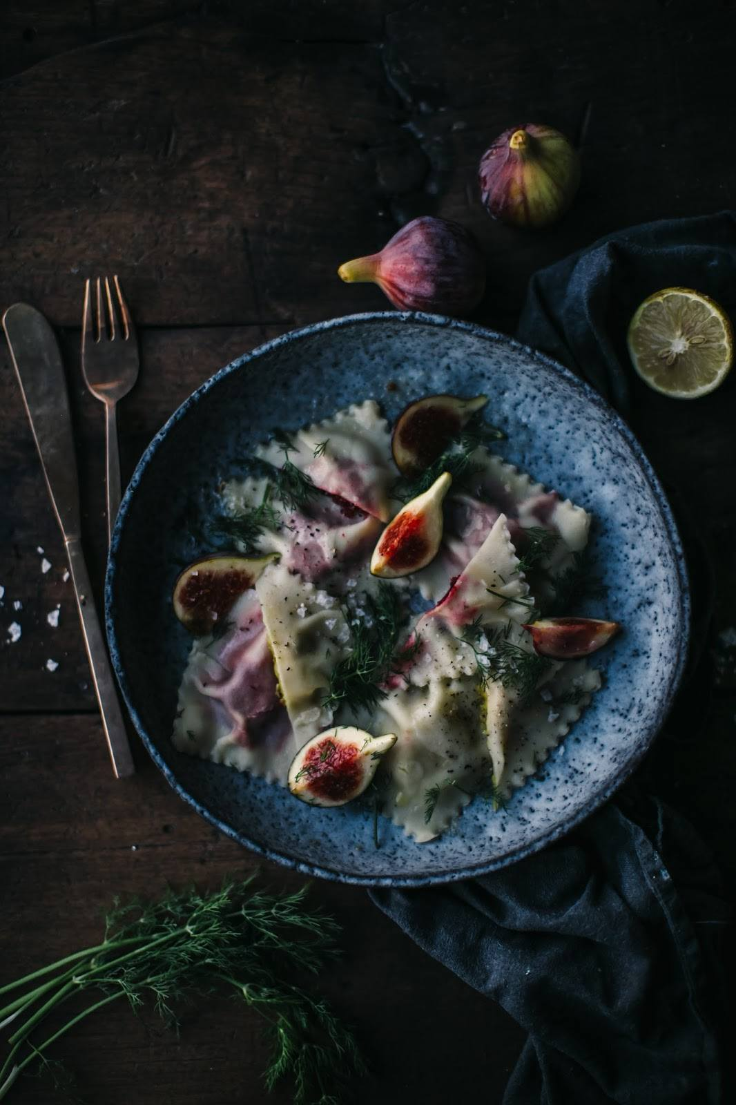 Gluten-free Ravioli filled with Red and Yellow Beetroot and delicious Cheese from Kaltbach