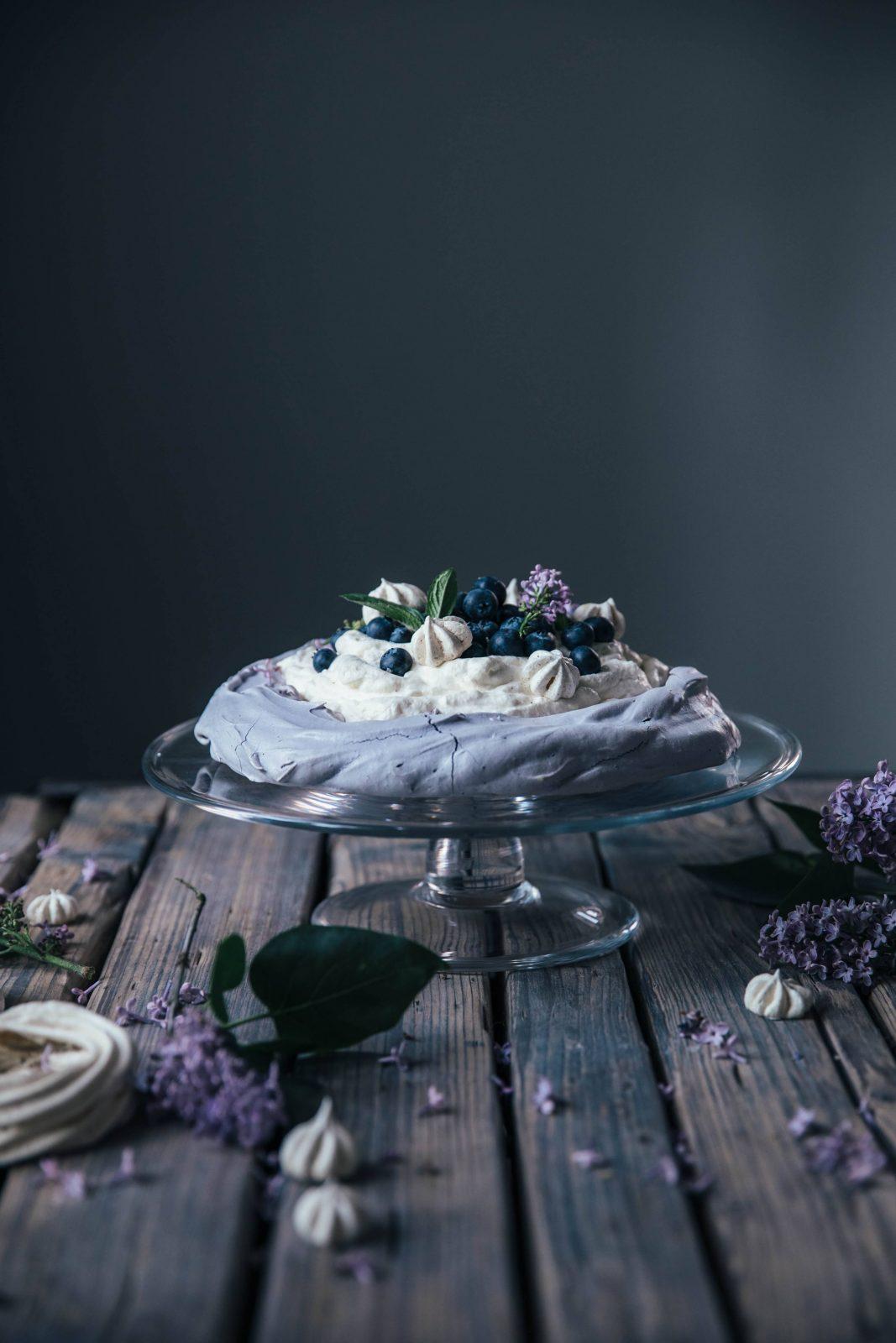 Gluten-free Blueberry Pavlova & Blueberry Banana Ice-Cream