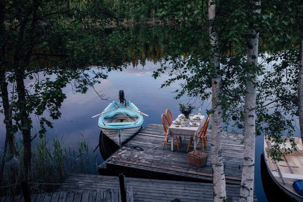 Image for A magical gathering at the lake in Sweden surrounded by the woods