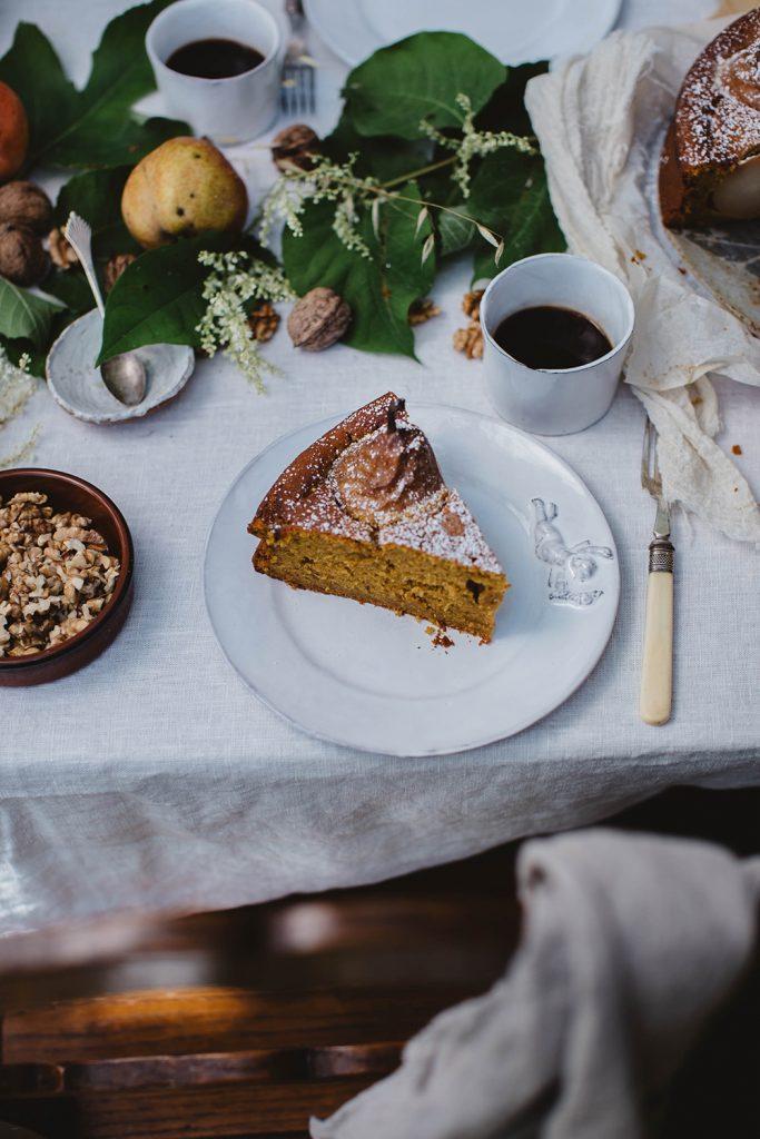 glutenfree pear pumpkin cake