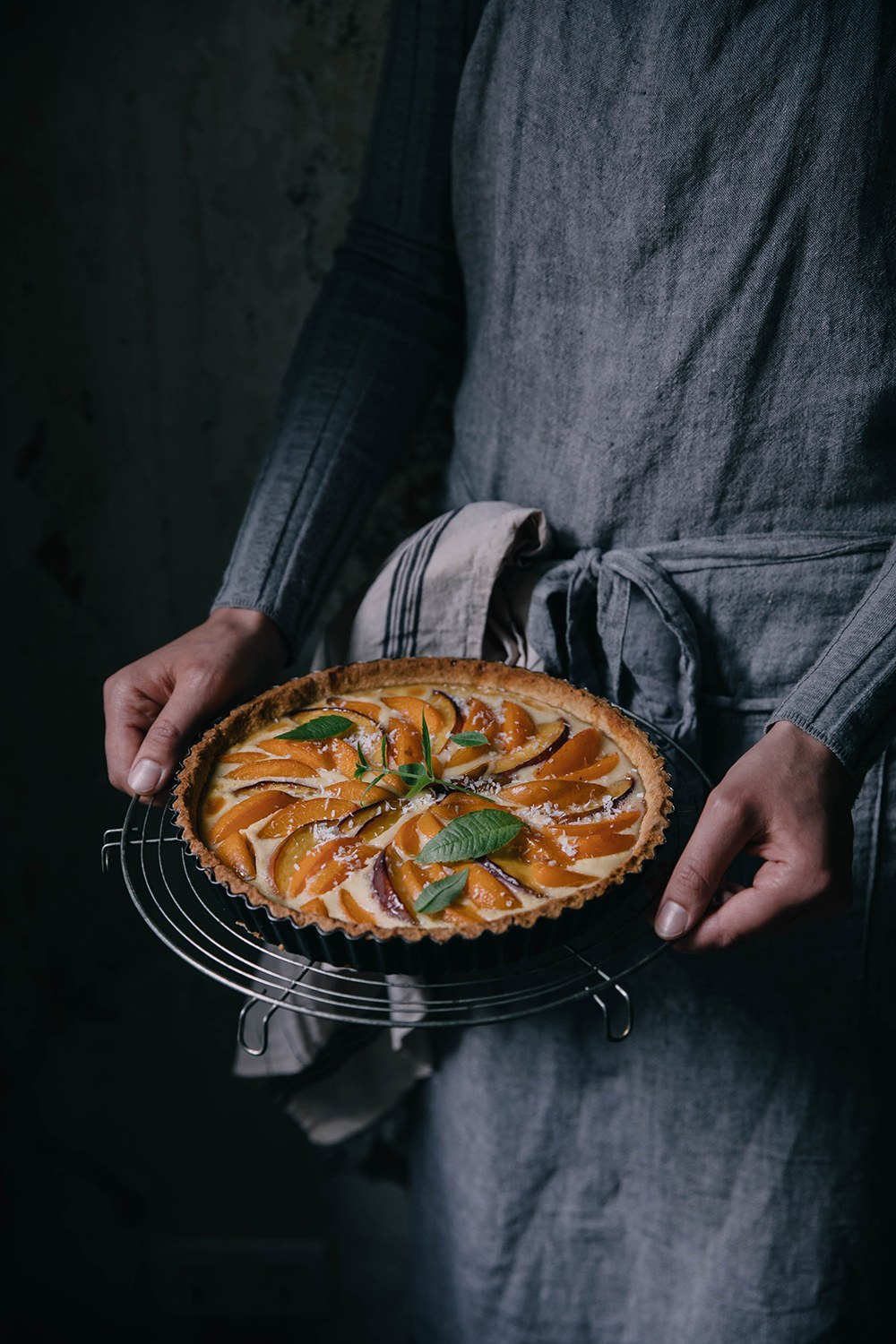 Gluten-free Apricot-Peach Tart and a Give-Away with Paper & Tea