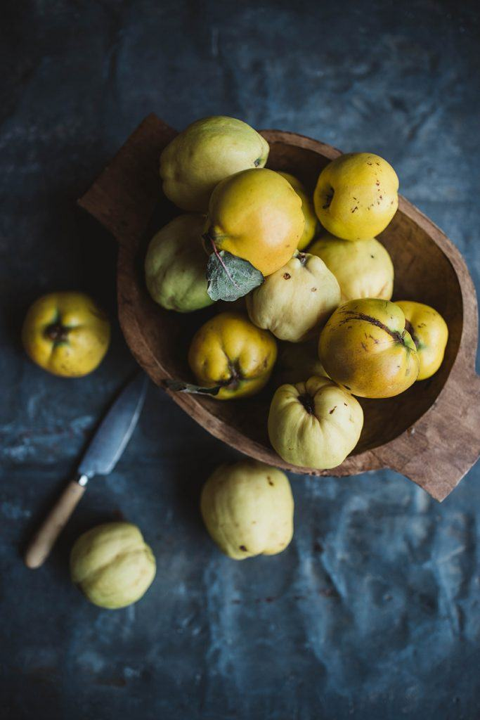 quinces autumn fruits