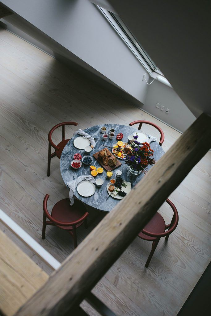 Breakfast Table from above Vipp Loft