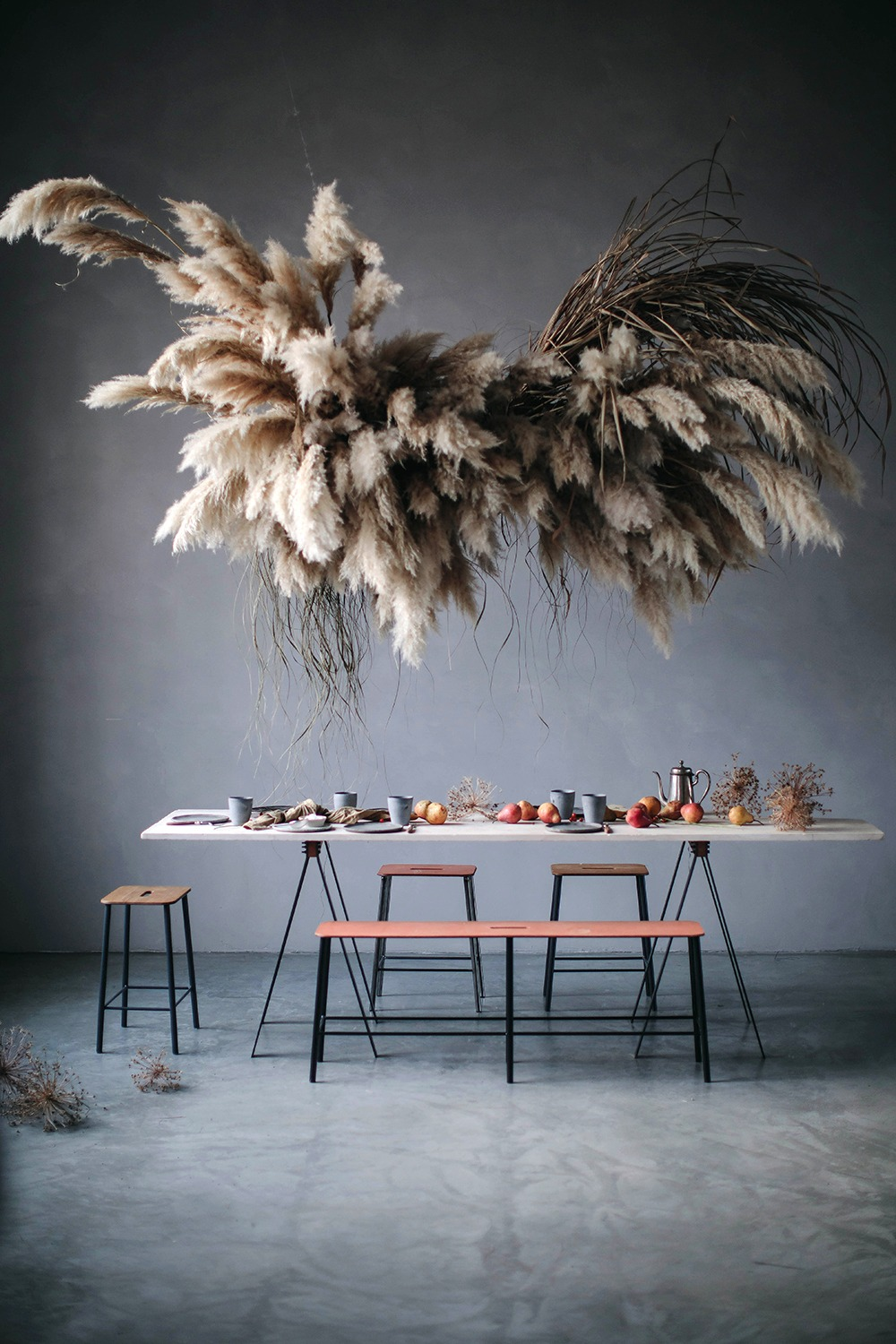 Pampas Cloud Installation with Mary Lennox in our Studio in Berlin