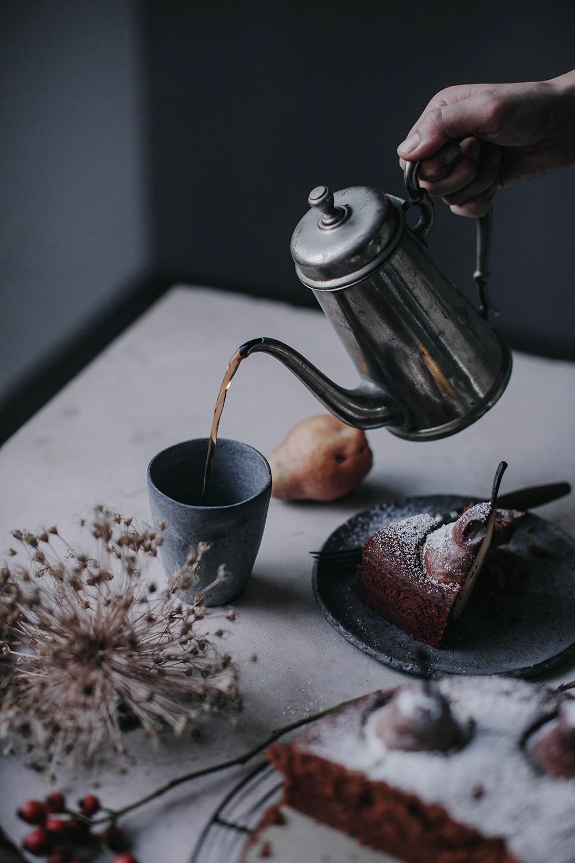 hot tea and cake