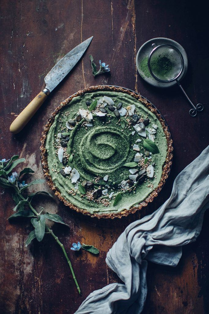 Image for Gluten-free and Vegan Matcha-Coconut-Tart