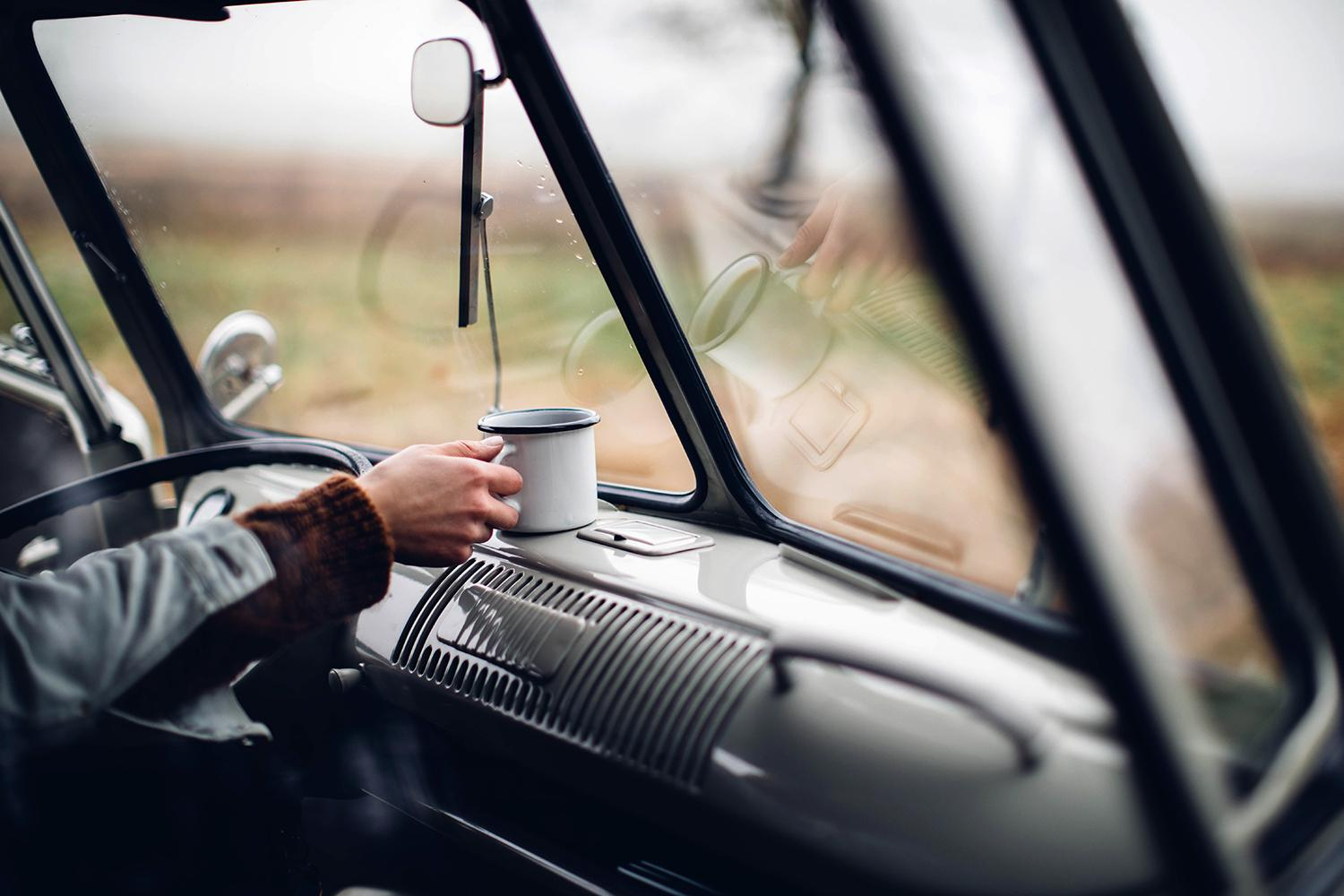 hot tea on the road