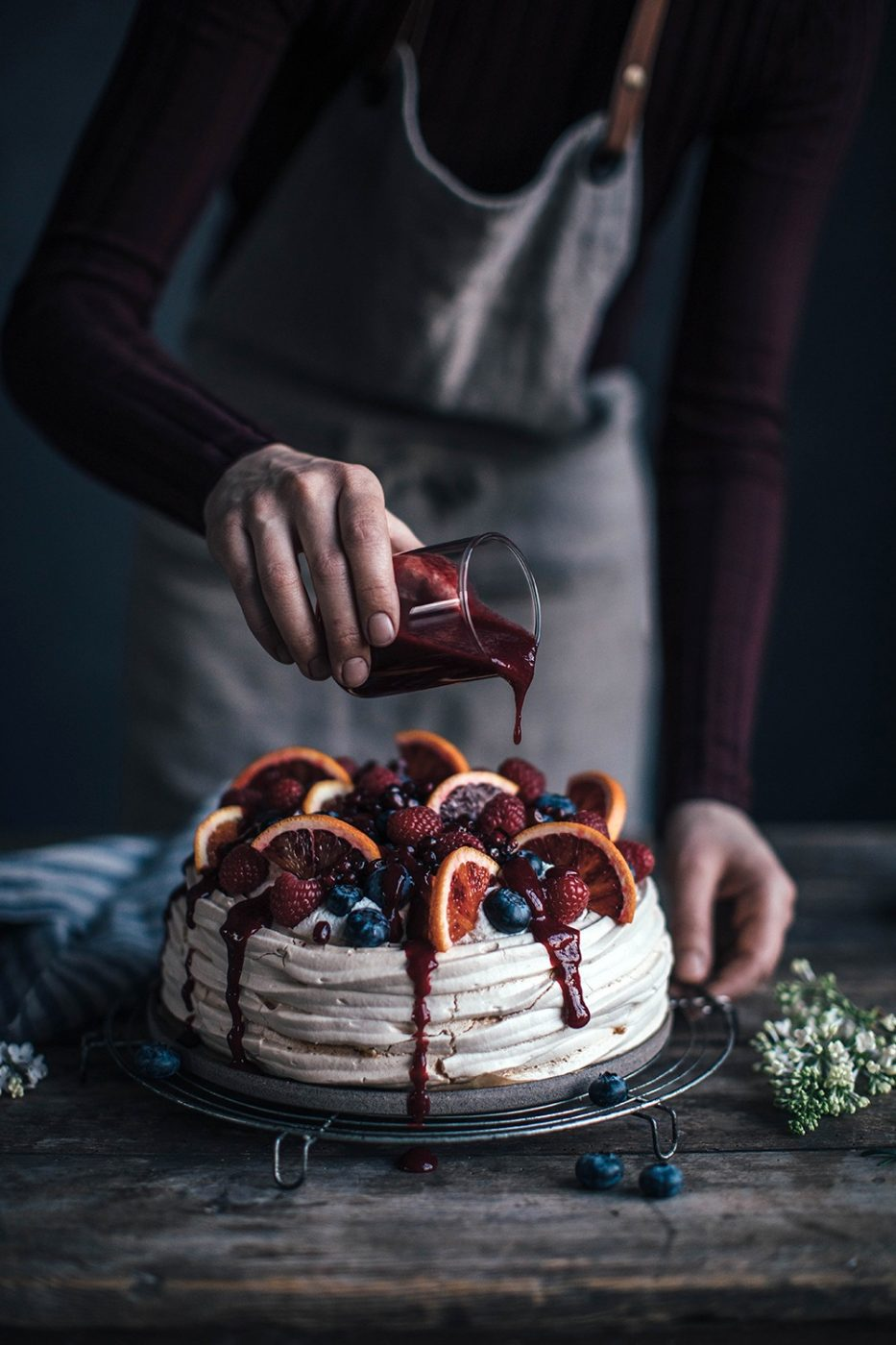 Image for Easy & delicious Blood Orange-Berry Pavlova with Berry Sauce