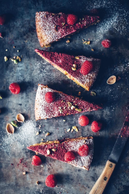 polenta cake pieces
