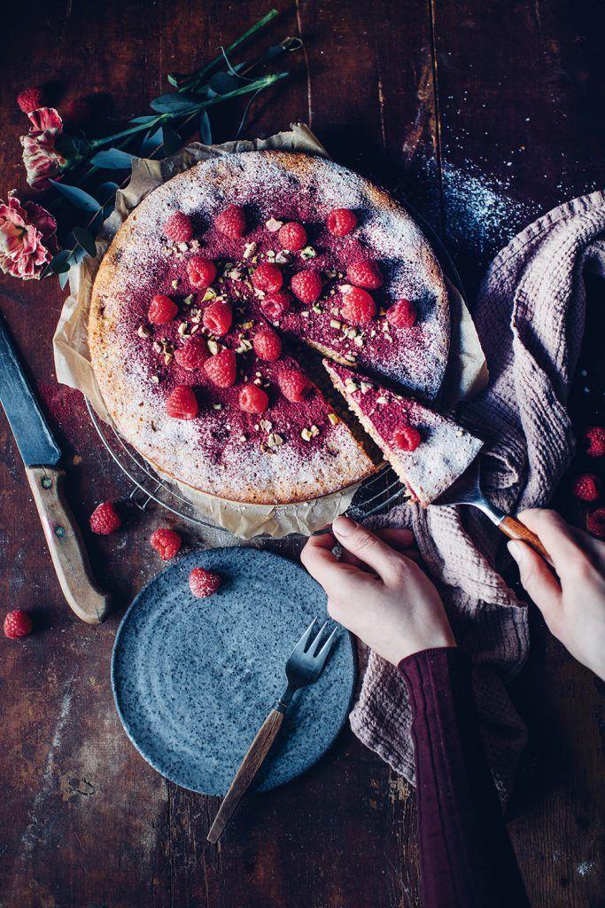 raspberry polenta cake