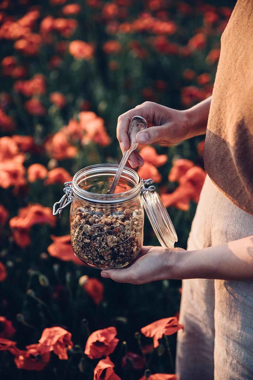 glutenfree poppyseed granola