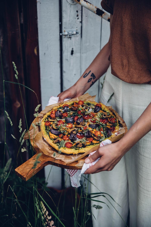 Gluten-free and vegan pizza