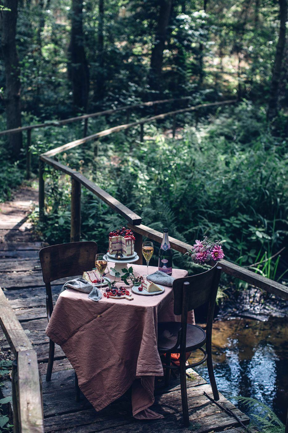 Image for Gluten-free Cherry-Cardamom Cake & a Gathering in the Woods