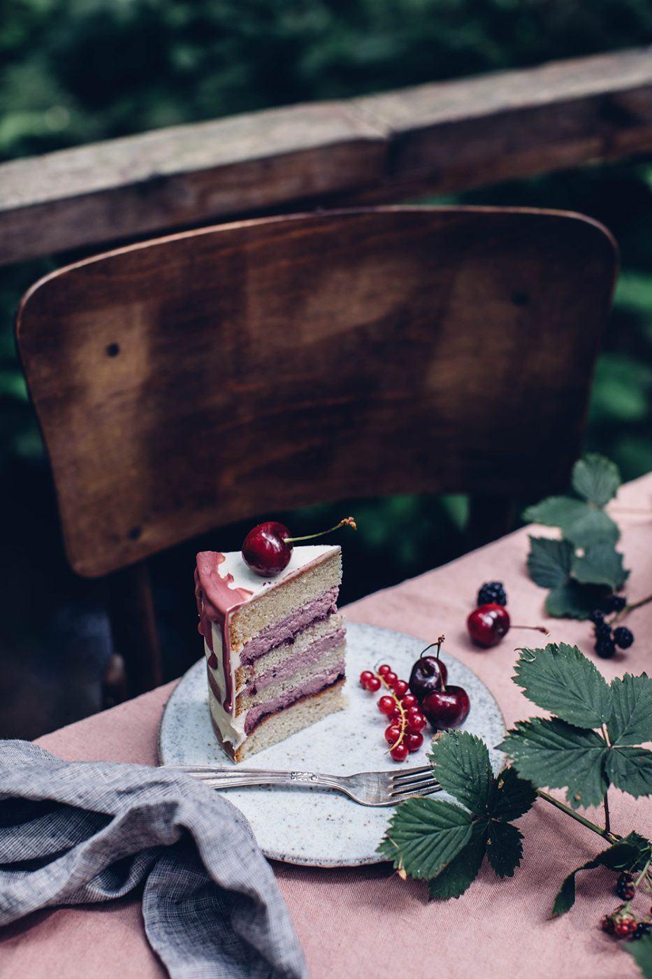 gluten-free cherry cardamom cake