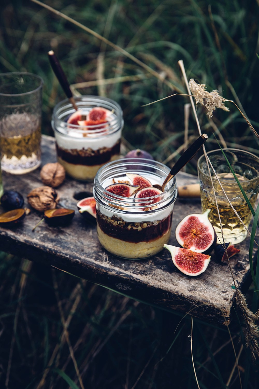 Polenta Porridge with Homemade Plum Jam & Figs