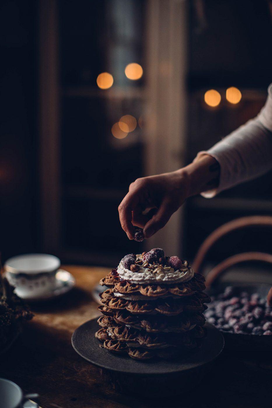 Gluten-free Christmas Waffle Cake