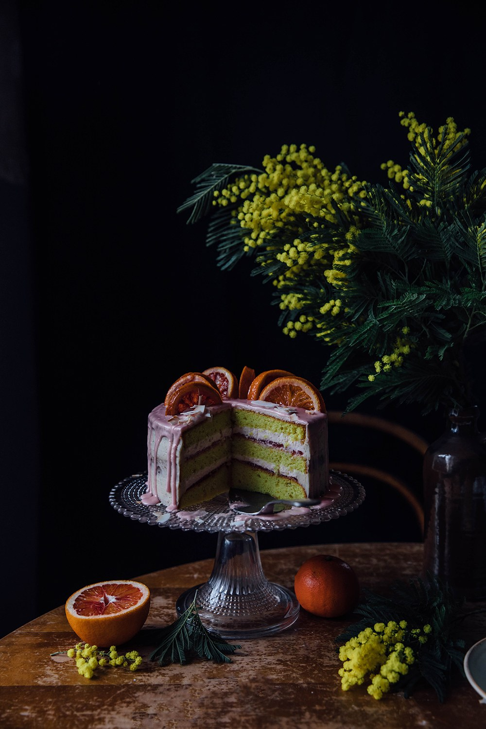 Gluten-free Blood Orange Lemon Cake