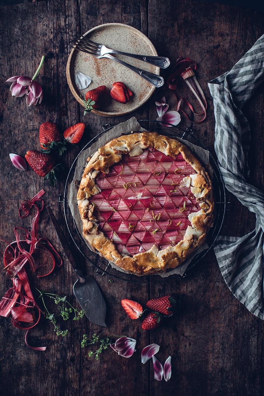 Gluten-free Rhubarb Galette