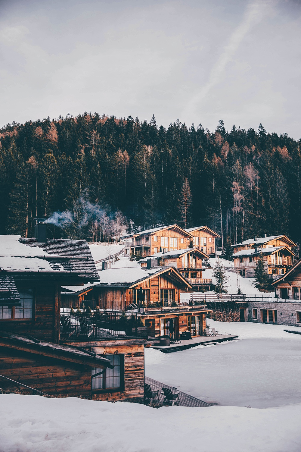 San Luis Lodges during Winter