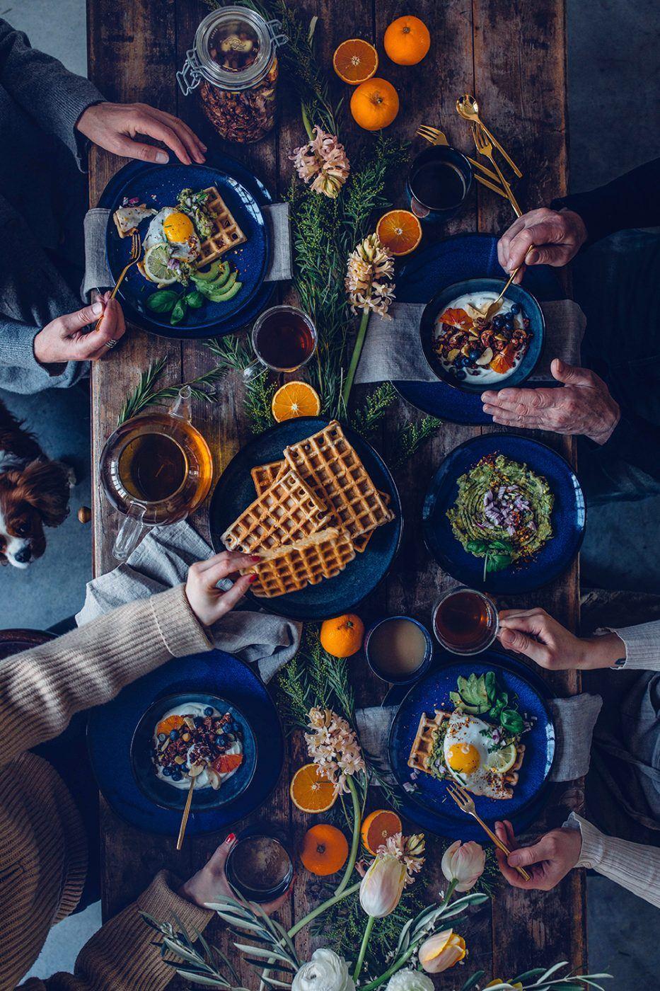 Image for Gluten-free Buckwheat Waffles with Fried Eggs – A little Breakfast Gathering