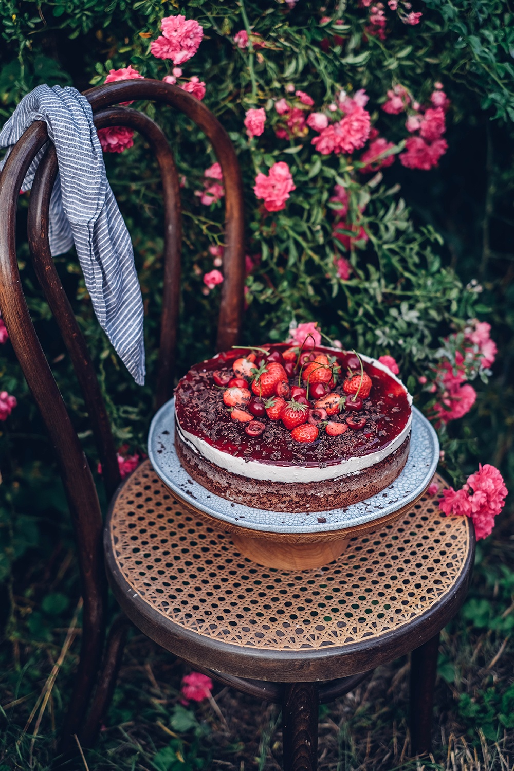 glutenfree chocolate cherry cake