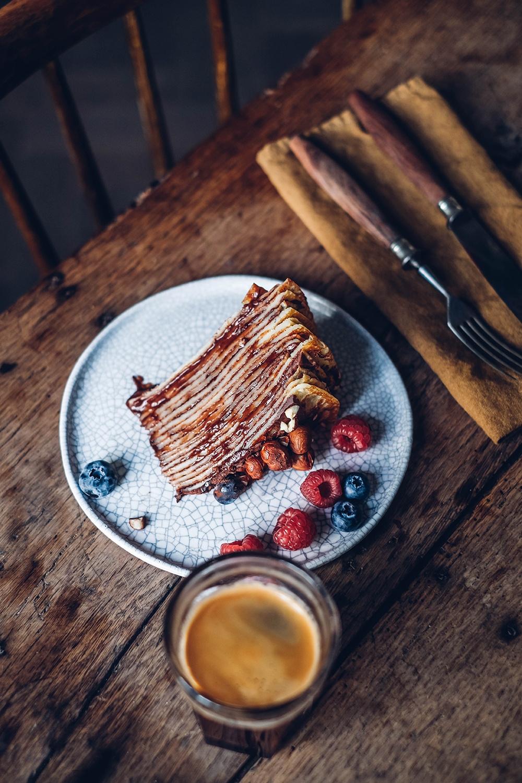 gluten-free chocolate crepe cake