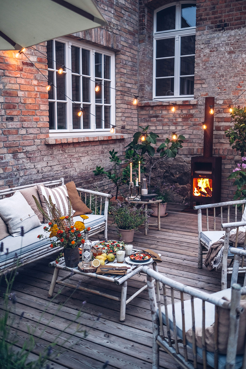 A Summer Evening on the Terrace